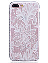 White Lotus Pattern Transparent TPU Material Phone Case for  iPhone 7 7 Plus 6s 6 Plus SE 5s 5 5C