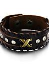 Bracelet Bracelets en cuir Alliage Cuir Forme Geometrique Mode Vintage Ajustable Quotidien Decontracte Regalos de Navidad Bijoux Cadeau