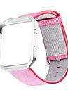 Rouge / Noir / Bleu / Rose / Gris Nylon Bracelet Sport Pour Fitbit Regarder 23mm