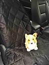 Кошка Собака Чехол для сидения автомобиля Животные Коврики и подушки Твердый Водонепроницаемость Компактность Складной Черный Коричневый