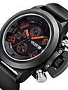 Pánské Náramkové hodinky Japonské Quartz Kalendář / Chronograf / Voděodolné Silikon Kapela Černá Značka- MEGIR