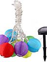 1шт 7м 10LED солнечной энергии струны света для праздника венчания партии водить Праздничное освещение