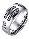 Men's Fashion Personality 316L Titanium Steel Ring Zircon Band Rings Casual/Daily Accessory 1pc Christmas Gifts