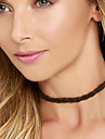 Women Minimalist Personality Wool Braid Rope Short Collar Necklaces 1pc