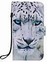 Para samsung galaxy a5 (2016) a3 (2016) capa capa capa branca de telefone para pupo de pintura de leopardo