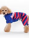 Собака Комбинезоны Пижамы Одежда для собак Очаровательный На каждый день Полоски Оранжевый Синий Розовый