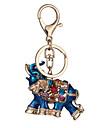 새로운 태국 핫 정품 다이아몬드 자동차 키 체인 드롭 코끼리 여자 가방 장식은 작은 사용자 정의 선물 공장 직접 판매 펜던트
