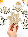 Wooden Coasters Snowflake Shape Woodiness Heat Lnsulation (Random Colours)