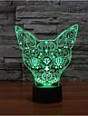 Katze Touch Dimm-3D-Nachtlicht 7colorful Dekoration Atmosphaere Lampe Neuheit Beleuchtung Weihnachten Licht gefuehrt