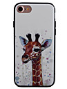 Giraffe Pattern Painting Touch Feel TPU Border Acrylic Material Phone Case For iPhone 7  7Plus 6S 6 Plus