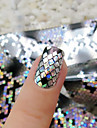 1roll 4cm*120cm Holographic Snake Skin Nail Art Transfer Foil Paper DIY Nail Decoration Tools