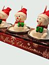 Рождественская свеча 3шт формы милый снеговик