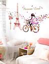 Романтика / Натюрморт / люди Наклейки Простые наклейки / Зеркальные стикеры Декоративные наклейки на стены,pvc материал СъемнаяУкрашение