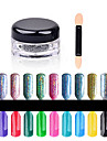 Brillante & Polvo-Otros-1box nail powder + 1pcs brush-1.5cm*3cm- (cm)