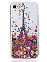 Para Ultra-Fina Capinha Capa Traseira Capinha Torre Eiffel Macia TPU AppleiPhone 7 Plus / iPhone 7 / iPhone 6s Plus/6 Plus / iPhone 6s/6