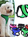 Dog Harness Adjustable/Retractable / Breathable Solid Red / Black / Green / Blue / Purple / Rose Nylon / Mesh