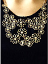 Women\'s Statement Necklaces Flower Alloy Adjustable Beige Jewelry For Party Gift Daily Office & Career 1pc