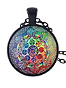 Ethnic Style Colorful Flower Pattern Long Pendant Necklaces