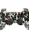 Brown and Green Camouflage Dual-choque Bluetooth V4.0 controlador sem fio para PS3
