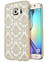 for Samsung Galaxy S7 Edge Case Cover Damask Vintage Flower Pattern Transparent PC Hard case