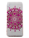 소니 xperia xa 케이스 커버 연꽃 패턴 그린 tpu 소재 전화 케이스