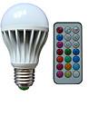 10W B22 E26/E27 Круглые LED лампы А80 3 Высокомощный LED lm RGB Регулируемая На пульте управления Декоративная AC 85-265 V 1 шт.