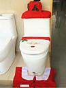 Санта-Клаус туалет крышка коврики коробки ткани Бачок