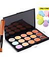 15 Correcteur/ContourHouppette/Eponge / Pinceaux de Maquillage Humide VisageCouverture / Correcteur / Tonalite Inegale de la Peau /