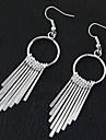 Drop Earrings Hoop Earrings Alloy Fashion Silver Jewelry Party Daily 1 pair