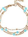 Femme Bracelet de cheville/Bracelet Alliage Mode Europeen Bijoux Pour Mariage Quotidien