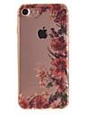 Pour IMD Coque Coque Arriere Coque Fleur Flexible TPU pour Apple iPhone 7 / iPhone 6s/6