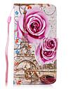 용 지갑 / 카드 홀더 / 스탠드 케이스 풀 바디 케이스 꽃장식 하드 인조 가죽 용 Samsung Grand Prime / Core Prime / Core 2