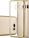Pour Samsung Galaxy S7 Edge Plaque Transparente Coque Coque Arriere Coque Couleur Pleine PUT pour Samsung S7 edge S7 S6 edge S6