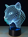 1PC 2016 Leopard Head Induction Lamp Led Lamp Novelty Products Intelligent Creative Gifts 3D Visual Nightlight