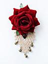 женская мода ретро сплав / драгоценный камень / ткань роза с колокольчиком броши Pin ежедневных / вскользь аксессуары 1шт
