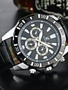 Men\'s Dress Watch Fashion Watch Wrist watch Quartz PU Band Casual Black Brown