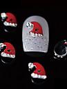10pcs chapeu de Santa beleza xmas vermelho liga 3d design de unhas nail art decoracao diy
