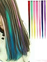 Long Synthetic Straight And Clip in Hair Extensions with 1 Clips 10 Color Available