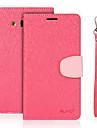 Для Кошелек / Бумажник для карт / со стендом / Флип Кейс для Чехол Кейс для Один цвет Твердый Искусственная кожа для SamsungJ7 (2016) /