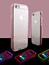 Pour iPhone 8 iPhone 8 Plus iPhone 6 iPhone 6 Plus Etuis coque Lampe LED Allumage Auto Transparente Coque Arriere Coque Couleur unie