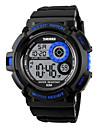 SKMEI Hommes Montre de Sport Numerique LED Calendrier Chronographe Etanche penggera Colore Chronometre Noctilumineux Polyurethane Bande