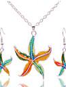 Набор украшений Мода Цветной Фольклорный стиль 1 ожерелье 1 пара сережек Для Для вечеринок Повседневные 1 комплект Свадебные подарки