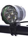 Светодиодные фонари Налобные фонари Велосипедные фары LED Cree XM-L T6 Велоспорт Диммируемая Перезаряжаемый Компактный размер Очень легкие