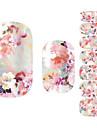 Autocollant d'art de clou Fleur Adorable Maquillage cosmétique Nail Art Design