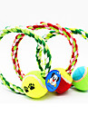 Dog Toy Pet Toys Chew Toy Rope Tennis Ball Random Color Textile