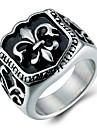 Массивные кольца Кольцо Титановая сталь Мода Серебряный Бижутерия Повседневные 1шт