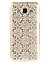 For Samsung Galaxy J5 J5(2016) J3 J3(2016) G530 Case Cover White Lace Flower Pattern IMD Process Painted TPU Material Phone Case