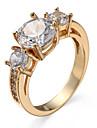 Women\'s Ring AAA Cubic Zirconia Costume Jewelry Zircon Cubic Zirconia Alloy Jewelry For Casual