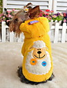 Dog Hoodie Red Yellow Green Blue Purple Dog Clothes Winter Spring/Fall Cartoon Cute Casual/Daily