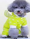 Собаки Плащи Одежда для собак Зима Однотонный Милые